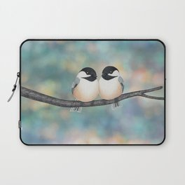 black capped chickadees and bokeh Laptop Sleeve