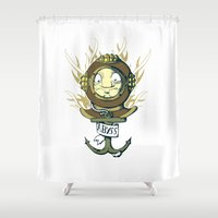 abyss Shower Curtains featuring Abyss by Emeline Chauvin