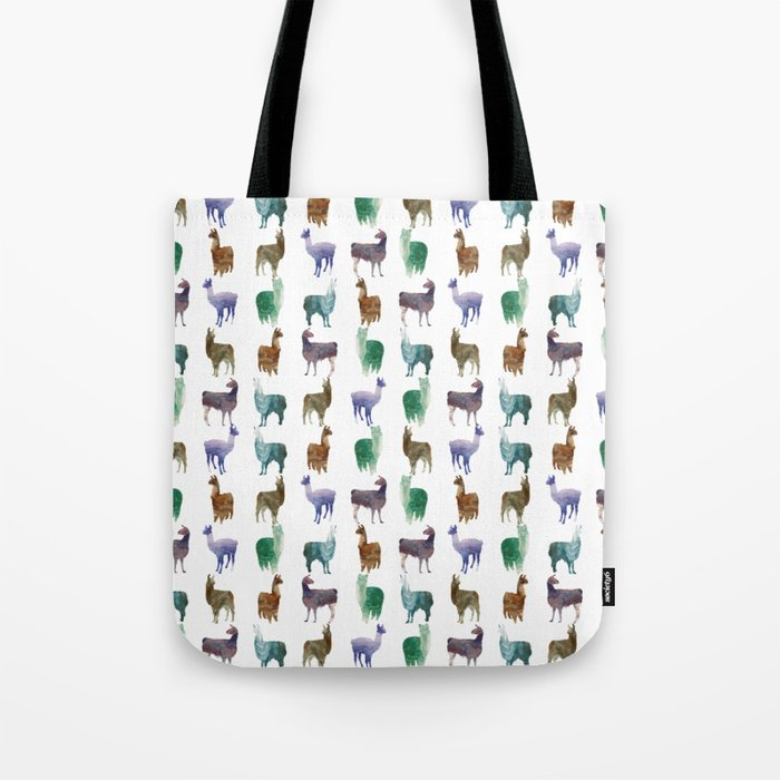 Color Llamas Pattern Tote Bag