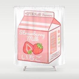 strawberry milk Shower Curtain
