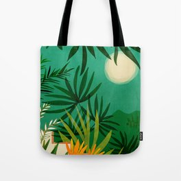 Exotic Garden Nightscape Tote Bag