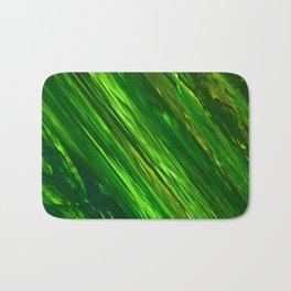 Green Strips by Gabriele Müller Bath Mat