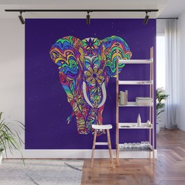 Not a circus elephant #violet by #Bizzartino Wall Mural
