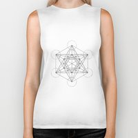 sacred geometry Biker Tanks featuring Sacred Geometry Print 3 by poindexterity