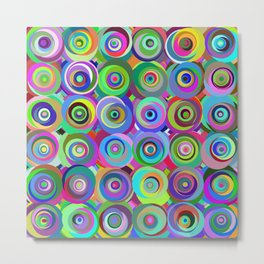 6x6 001 - abstract bouquet Metal Print