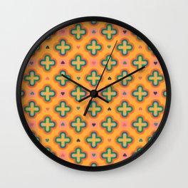 Peachy Clover Lane Wall Clock