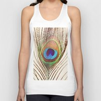peacock Tank Tops featuring Peacock by Laura Ruth