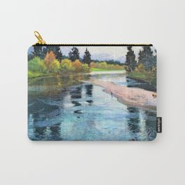 12,000pixel-500dpi - Frits Thaulow - A River - Digital Remastered Edition Carry-All Pouch