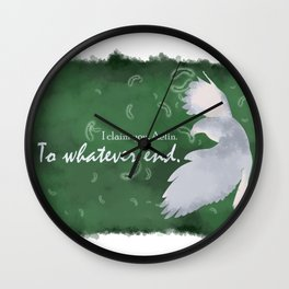 To Whatever End (Green) Wall Clock