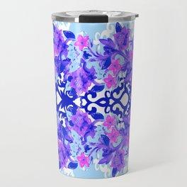 Baroque Blue Travel Mug
