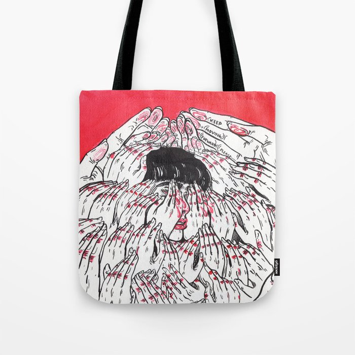 Keep Moving Forward Please Tote Bag