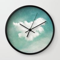 cloud Wall Clocks featuring Cloud by Juste Pixx Photography