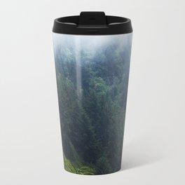 Oregon forest, foggy forest, oregon coast, green forest, nature, moody forest, moody landscape Travel Mug