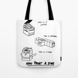 Now Print A Zine Tote Bag