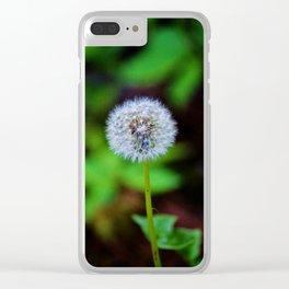 Dandelion Clock Clear iPhone Case