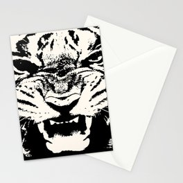 White Tiger Vector Stationery Cards