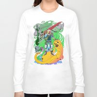 jake Long Sleeve T-shirts featuring Finn & Jake by Rob S