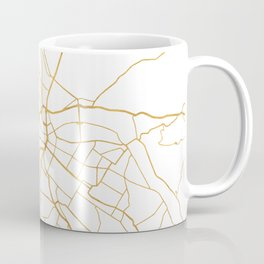 DRESDEN GERMANY CITY STREET MAP ART Coffee Mug