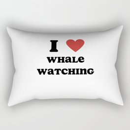 I Love Whale Watching Rectangular Pillow
