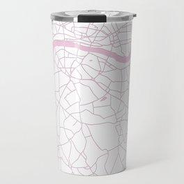 London White on Pink Street Map Travel Mug