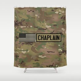 Chaplain (Camo) Shower Curtain