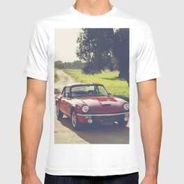 Triumph spitfire, classic english sports car, hasselblad photo T-shirt