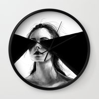 faith Wall Clocks featuring Faith by Tsukiko-Kiyomidzu
