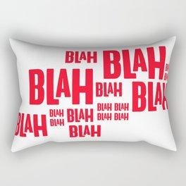 Blah Blah Blah! Rectangular Pillow