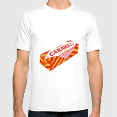Caramel Wafer pen drawing MEDIUM White Mens Fitted Tee