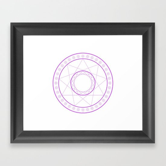 Anime Magic Circle 7 Framed Art Print