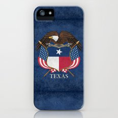 Texas flag and eagle crest, Vintage original design by BruceStanfieldArtist Slim Case iPhone (5, 5s)