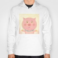 pooh Hoodies featuring Piggy Pooh by Silva Ware by Walter Silva
