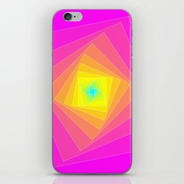 Magenta, Yellow, and Cyan Squares iPhone Skin