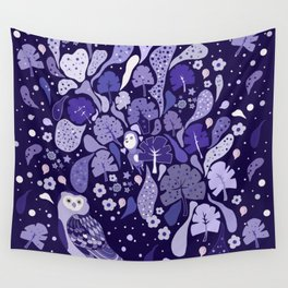 Floating violet Flora Wall Tapestry