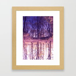 The Nature World up side down Framed Art Print