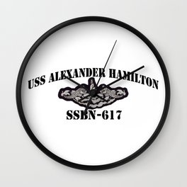 USS ALEXANDER HAMILTON (SSBN-617) BLACK  LETTERS Wall Clock