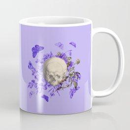 Purple Halloween Floral Skull Coffee Mug