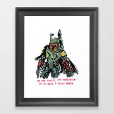 clones of a loser, that's why the empire lost Framed Art Print