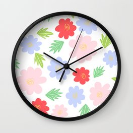 Cartoon Cosmos Wall Clock