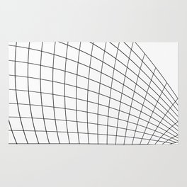 Abstract wireframed waving surface Rug