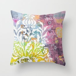 strange fruit - abstract painting Throw Pillow