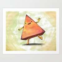 pyramid Art Prints featuring Pyramid by Pumpkin Snipes