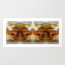 Iced Coffee Illusion Art Print