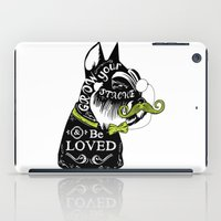 schnauzer iPad Cases featuring Schnauzer Stache by Caitlin Crowley