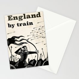 England 1066 vintage travel train poster Stationery Cards