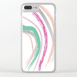 Coral Slide Clear iPhone Case
