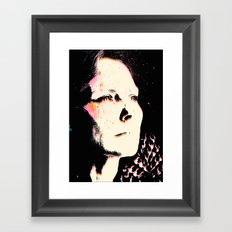 Staring into the Abyss Framed Art Print