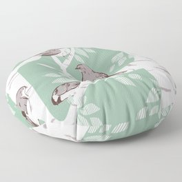 Birch Birds Floor Pillow