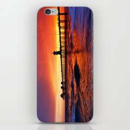 Sunset Huntington Beach Pier  iPhone Skin