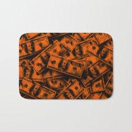 Orange Grunge Money Bath Mat